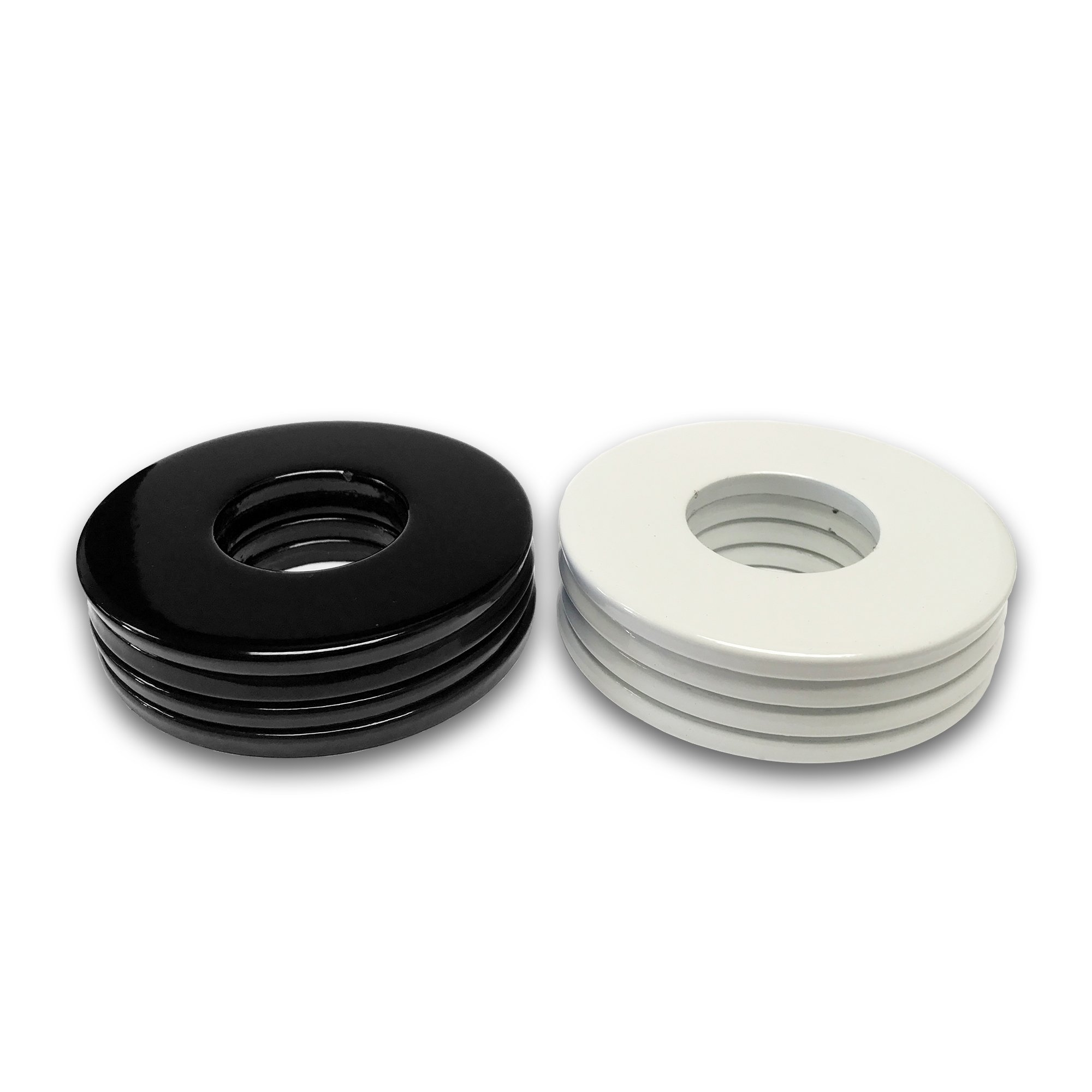 4 Black/4 White Powder Coated Replacement 2-1/2'' Washer Toss Pitching Game Washers - High Gloss! by Washer Toss Pros