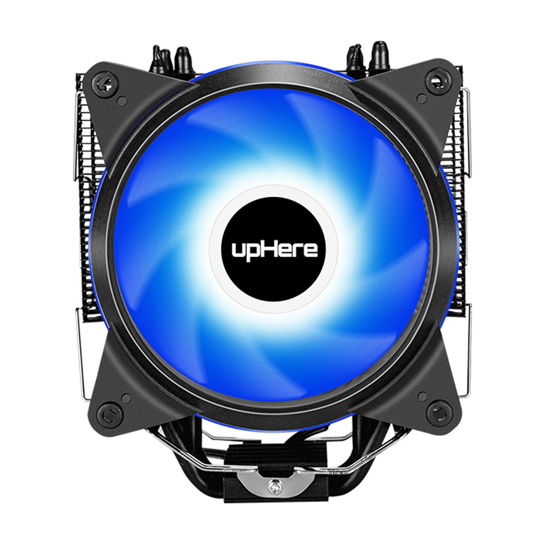 120mm Gaming Ultra Silencioso,Apoyo Intel y AMD CCF150CF upHere 4pin PWM LED Rainbow CPU Cooler Ventilador de CPU 2