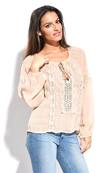 Miss June Blusa Cerise Rosa Viejo Mujer Colección Primavera/Verano
