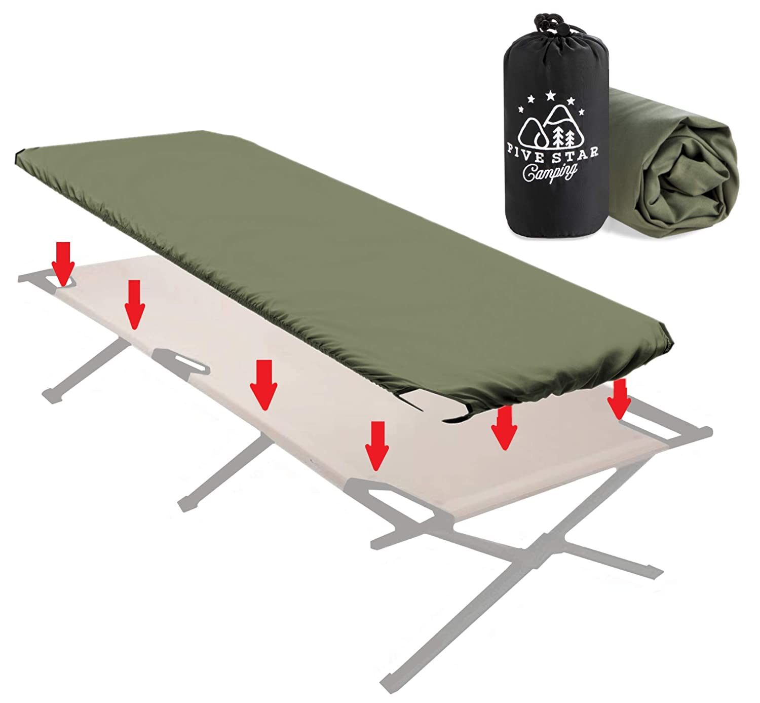 Keeps Your Sleeping Pad Secure Too! Travel Cots and Folding Cots Camping Bedding That fits Most Army Cots Fitted Camping Cot Sheet for Adult Sleeping Cots Get Glamping Military Cots