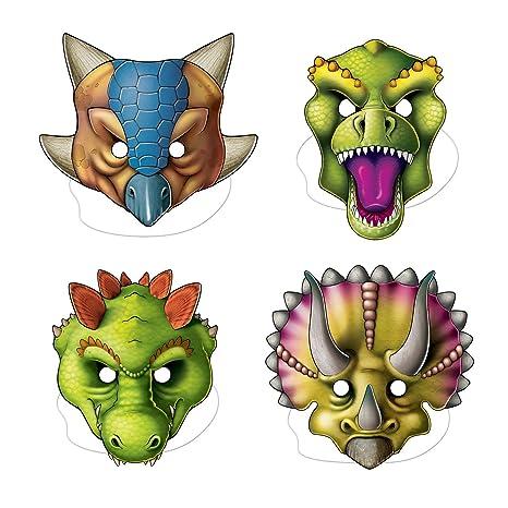 livraison gratuite gamme exceptionnelle de styles les mieux notés dernier Generique - 4 Masques de Dinosaures en Carton: Amazon.fr ...