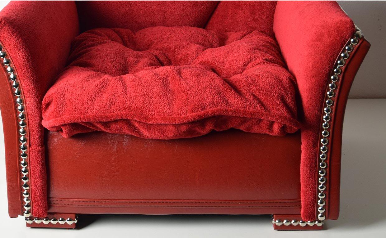 Edy Design Perro sofá Cama para Perros Couch el Corazones con una Suave frotté y Piel sintética: Amazon.es: Productos para mascotas