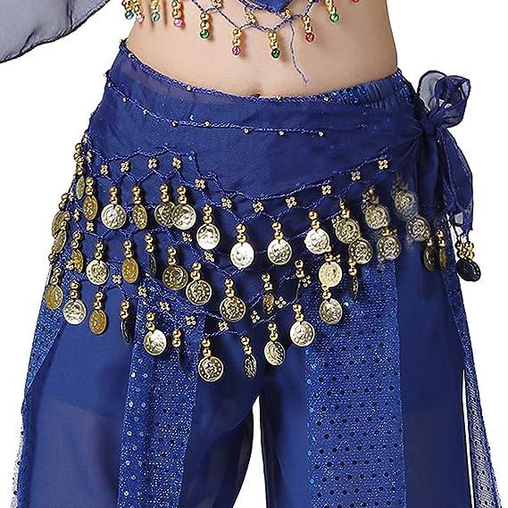 Niña Chica Cinturón Lentejuelas Moneda Danza Del Vientre ...
