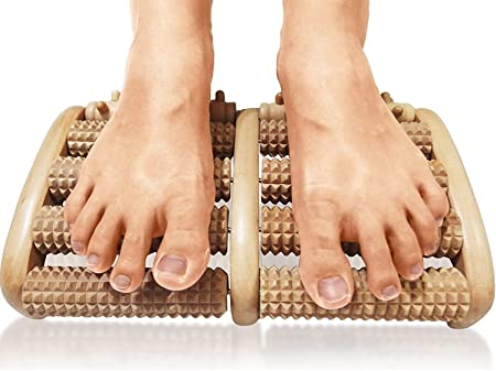 TheraFlow Dual Foot Massager Roller (Large). Relax and Relieve Plantar Fasciitis, Heel, Arch Pain. Stress Relief Tool. Full Instructions/ Reflexology Chart Included. Relaxation Gifts for Men, Women