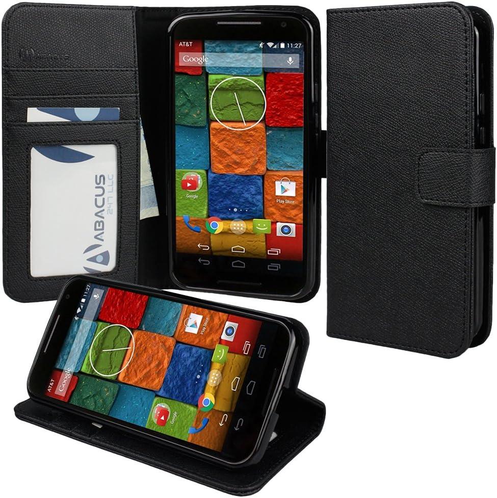 Abacus 091-MTX2-CS-BK Funda Cartera Negro Funda para teléfono móvil: Amazon.es: Electrónica