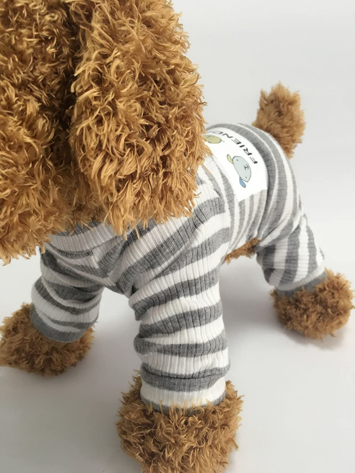 EastCities Dog ClothesSmall Dogs Puppy Pajamas OutfitGrey - 3