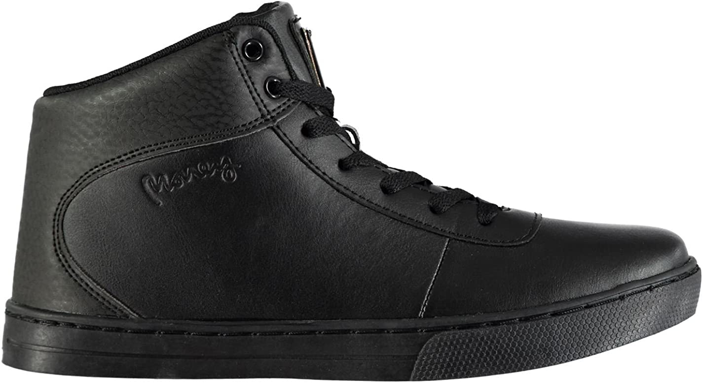 BORN Mens Rich Onyx High Top Trainers