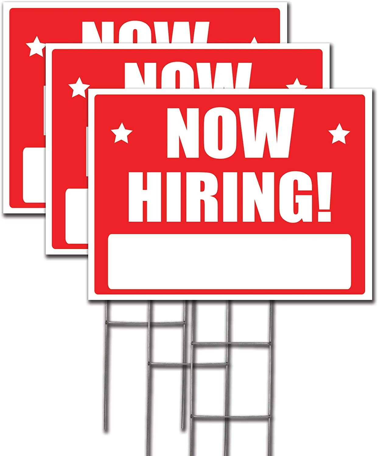 Now Hiring Lawn Sign Kit with Arrow Stickers (3)