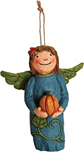 Studio M Wings of Whimsy Harvest Gifts Hand-Painted Inspirational Angel Ornament, Decorative Home Décor Sculpture, Beautiful Wood-Carved Look, 3 x 4.25 Inches