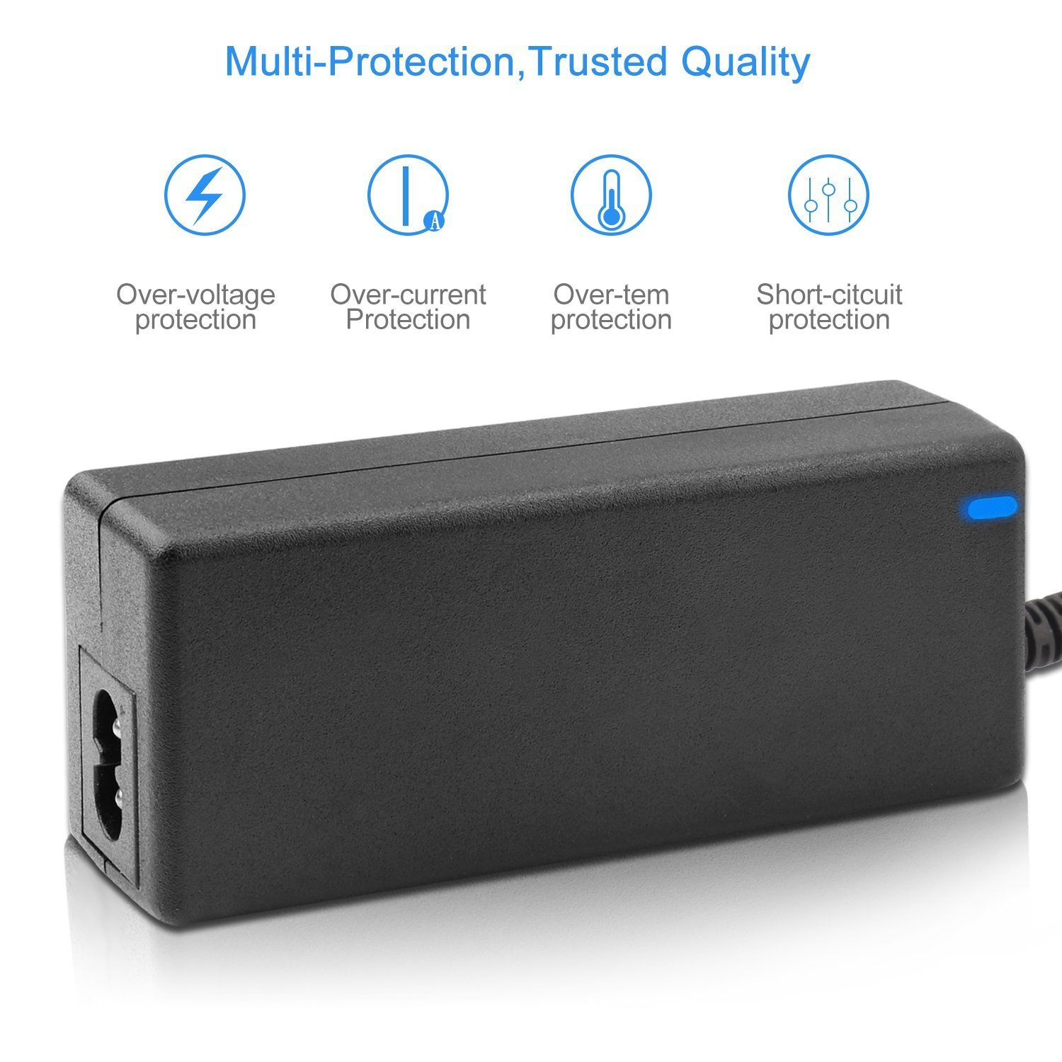 New 12V 3.33A 40W AC//DC Adapter For FSP FSP040-DGAA1 Delta ADP-40DD B Check Point 9NA0402144 Philips Dell S2340 2230MX S2240M S2216H S2340L HIPRO HP-O2040D43 Power Supply Cord Cable Charger PSU