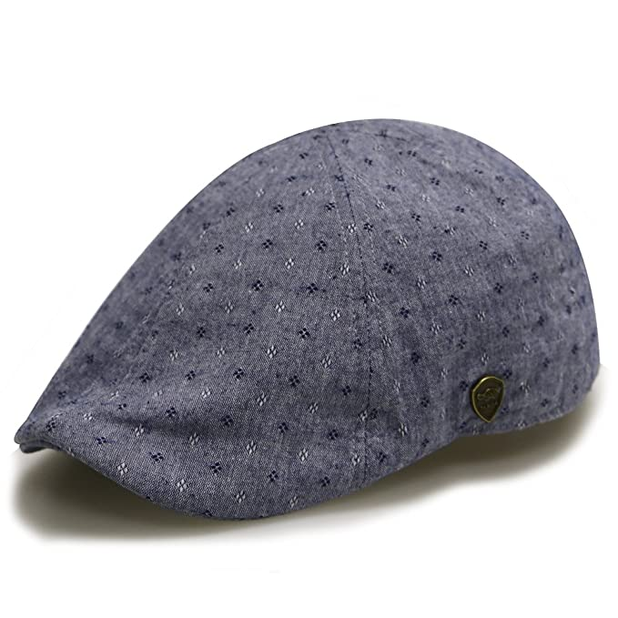 Amazon.com  City Hunter Pmv790 Dot Pattern Duckbill Ivy Cap (Navy ... e2cddfbe25d