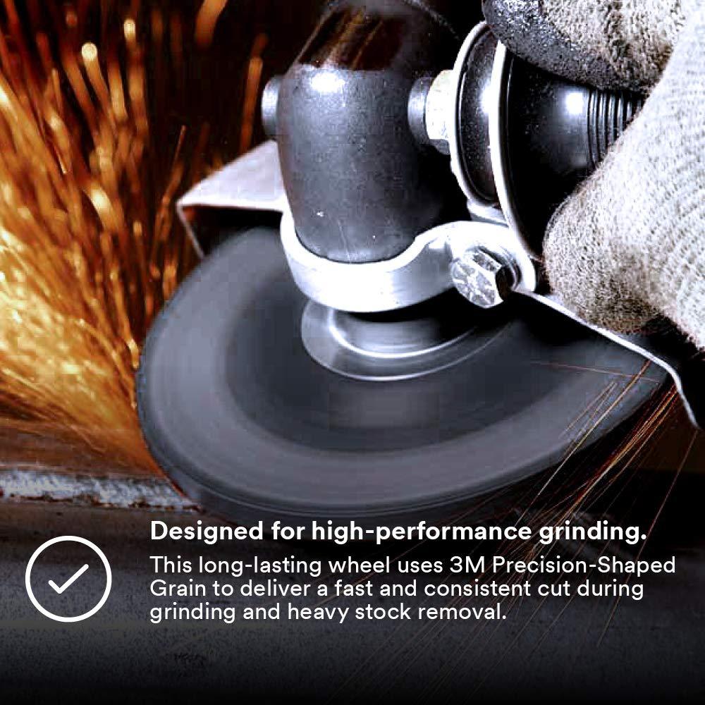 Lot of 10 Ceramic Grain 3M 44538 Silver Depressed Center Grinding Wheel 4-1//2 x 1//4 x 7//8 T27