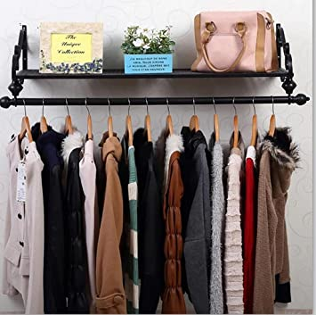 Cdbl-iron Vêtements étagères murale style rétro Cintre Manteau ...
