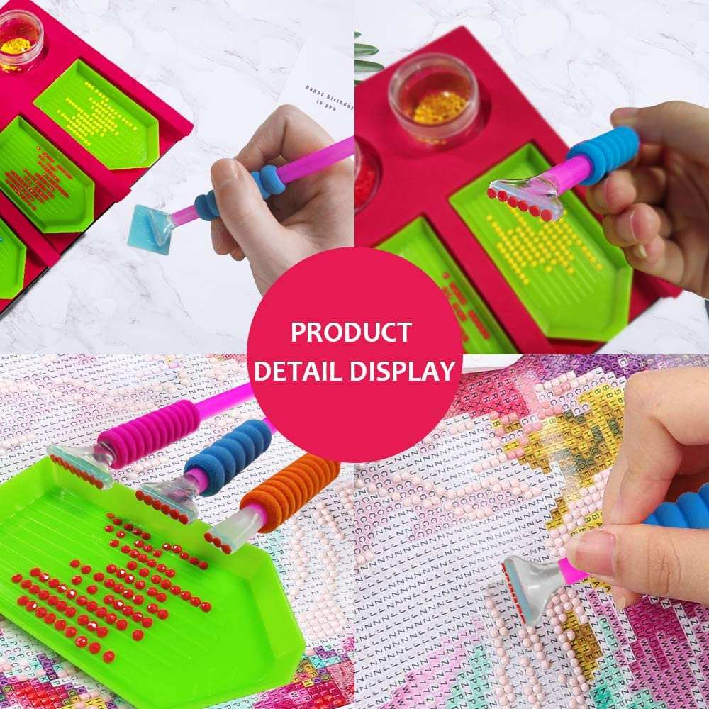 Dimmable Light Brightness Board Apply to Full Drill /& Partial Drill 5D Diamond Painting Kits for Adults XEUYUTR Diamond Painting Accessories with A4 LED Light Pad and Professional Tray Organizer