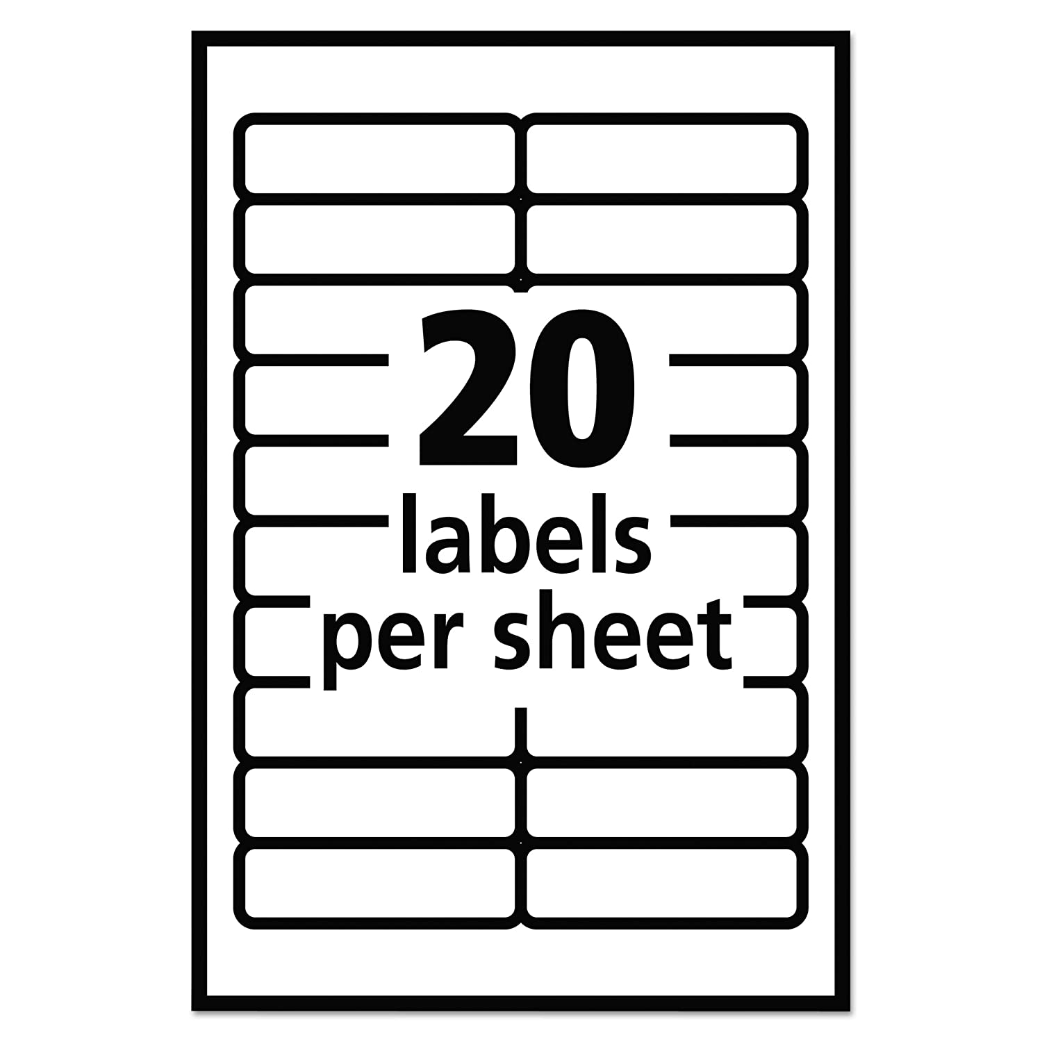 Amazon Avery Self Adhesive Removable Labels 05 X 175 Inches