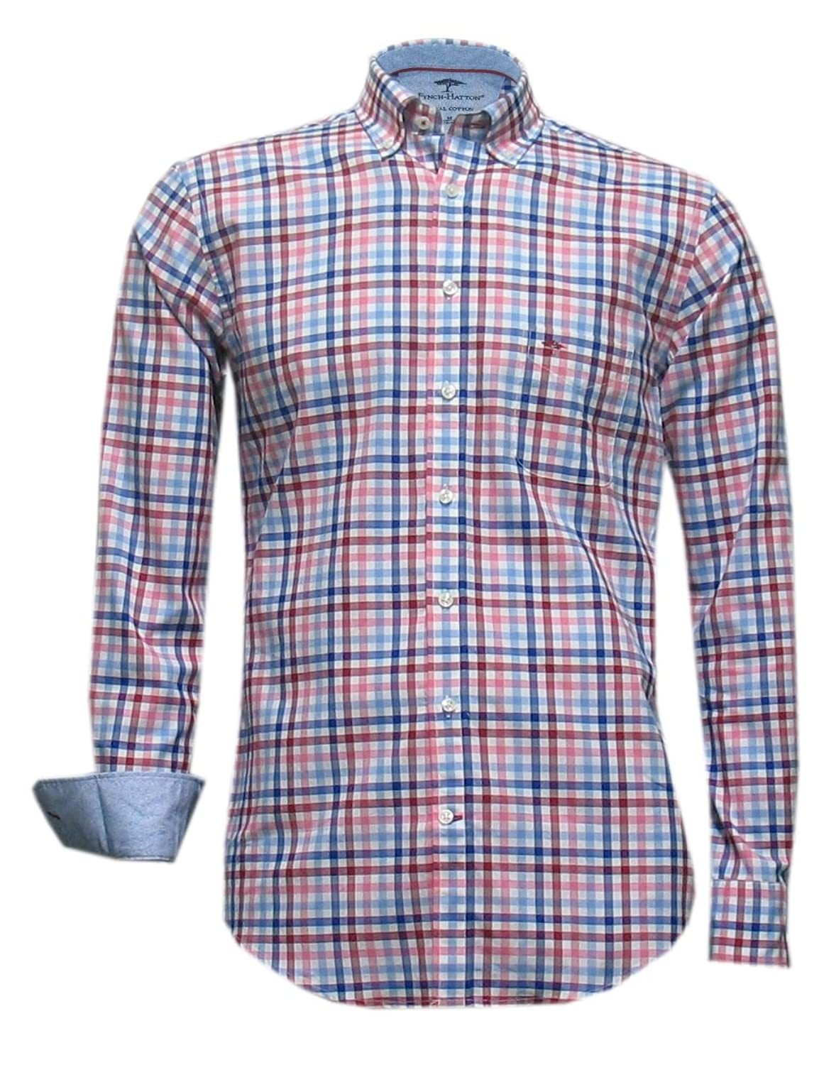 New Autumn 2016 Fynch-Hatton Shirt - Berry Blue Check