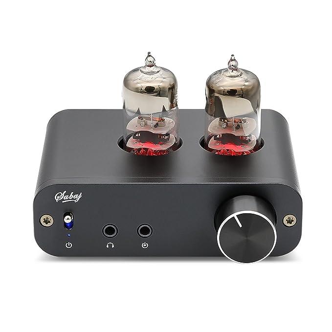 Sabaj PHA3 Amplificador para auriculares de tubo de vacío 2X6J9 ruido de tierra bajo Amplificador de audio estéreo integrado Protección de salida de ...