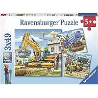 Ravensburger Construction Vehicle 3x49pc Puzzle,Children's Puzzles