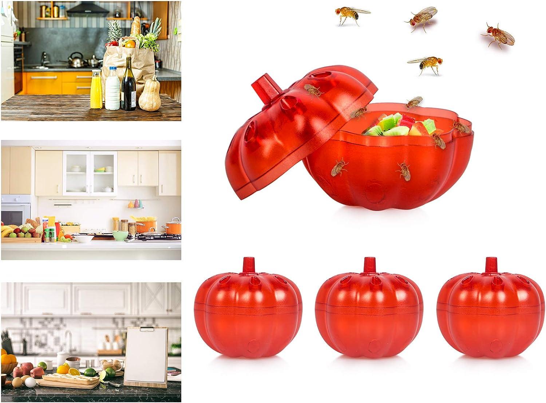 Stingmon 4 Pack Fruit Fly Traps Indoor, Gnat Killer for Indoor, Fly Trap for Home,Gnat Traps Indoor
