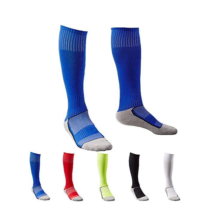 5313e7370ee 5 Pair Childrens Kids Boys Long Athletic Football   Soccer SocksSport Tube  SocksOver the Knee