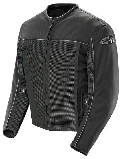 Joe Rocket Velocity Mens Mesh Riding Jacket (Black, Large)