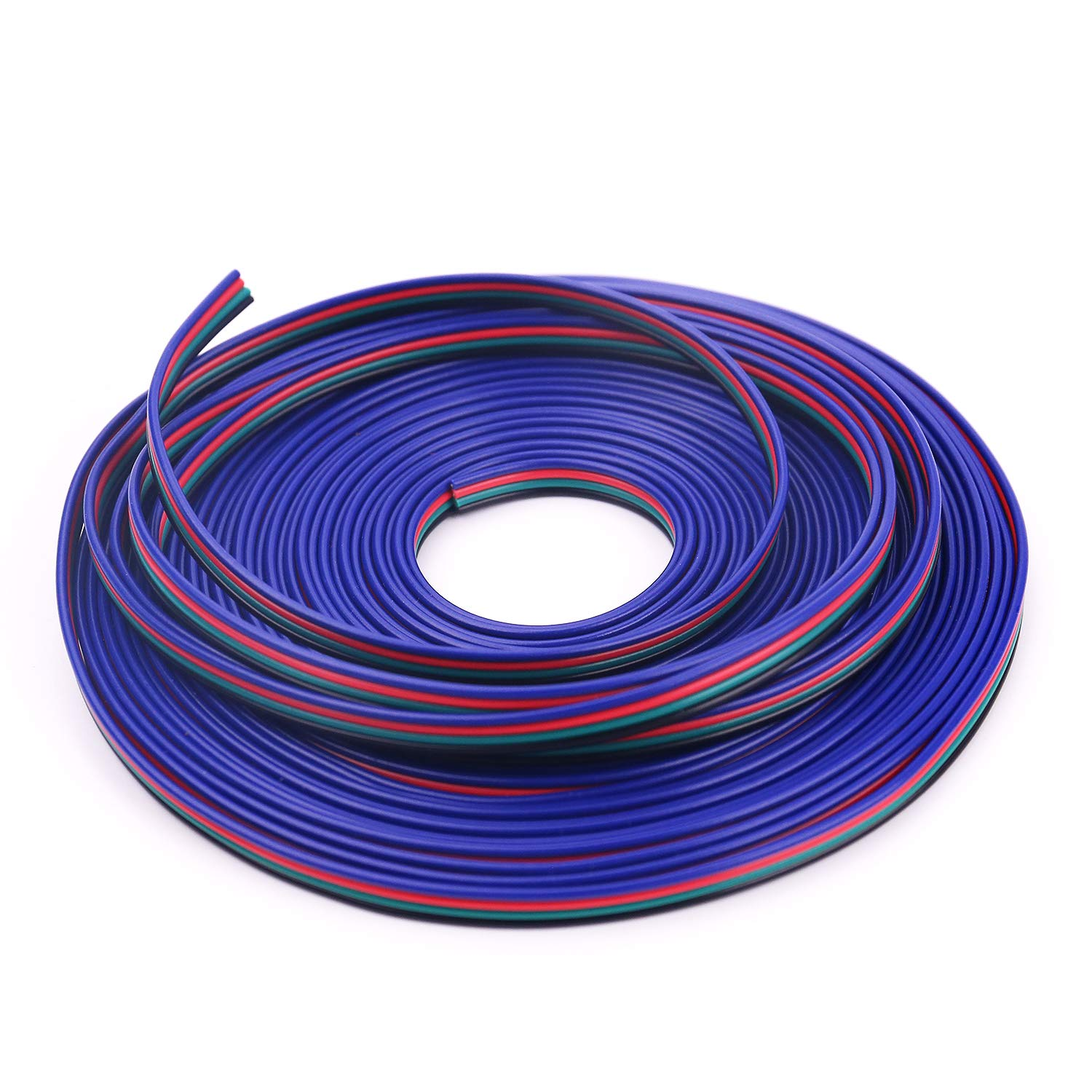 Icreating 100ft 4 Pin Rgb Extension Cable Wire Cord For 5050 3528 Led Wiring Color Changing Flexible