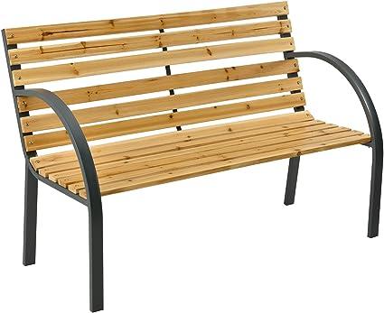 Amazon De Artlife Gartenbank Modena 2 Sitzer Holzbank Mit Armlehnen Ruckenlehne Wetterfeste Sitzbank 120x62x82 Cm Bank Mit Seitenelementen Aus Stahl