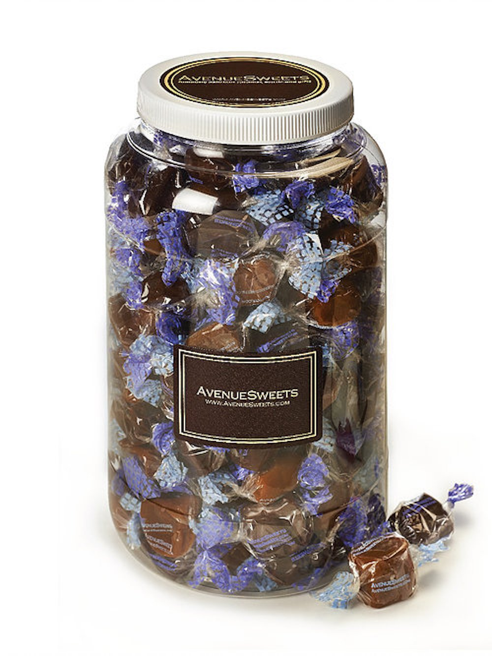 AvenueSweets - Handcrafted Individually Wrapped Soft Caramels - 1 Gallon Jar - Customize Your Flavors by AvenueSweets