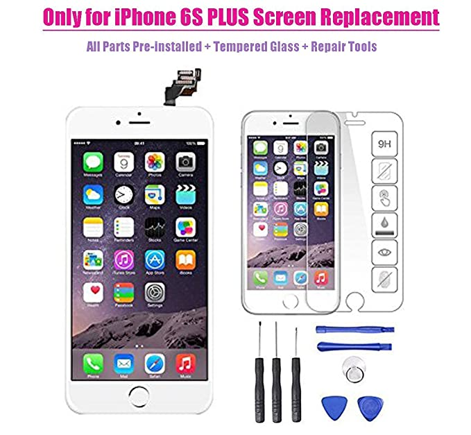 big sale 1f682 5a081 Amazon.com: for iPhone 6s Plus LCD Display Screen Touch Digitizer ...
