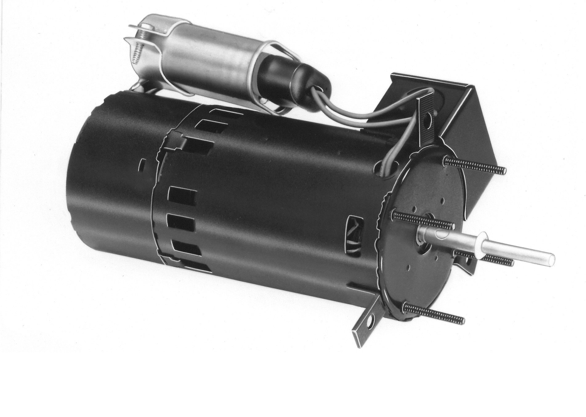 Fasco D410 3.3'' Frame Open Ventilated Permanent Split Capacitor Flue Exhaust and Draft Booster Blower Motor withBall Bearing, 1/10HP, 3000rpm, 115V, 60Hz, 1.5 amps