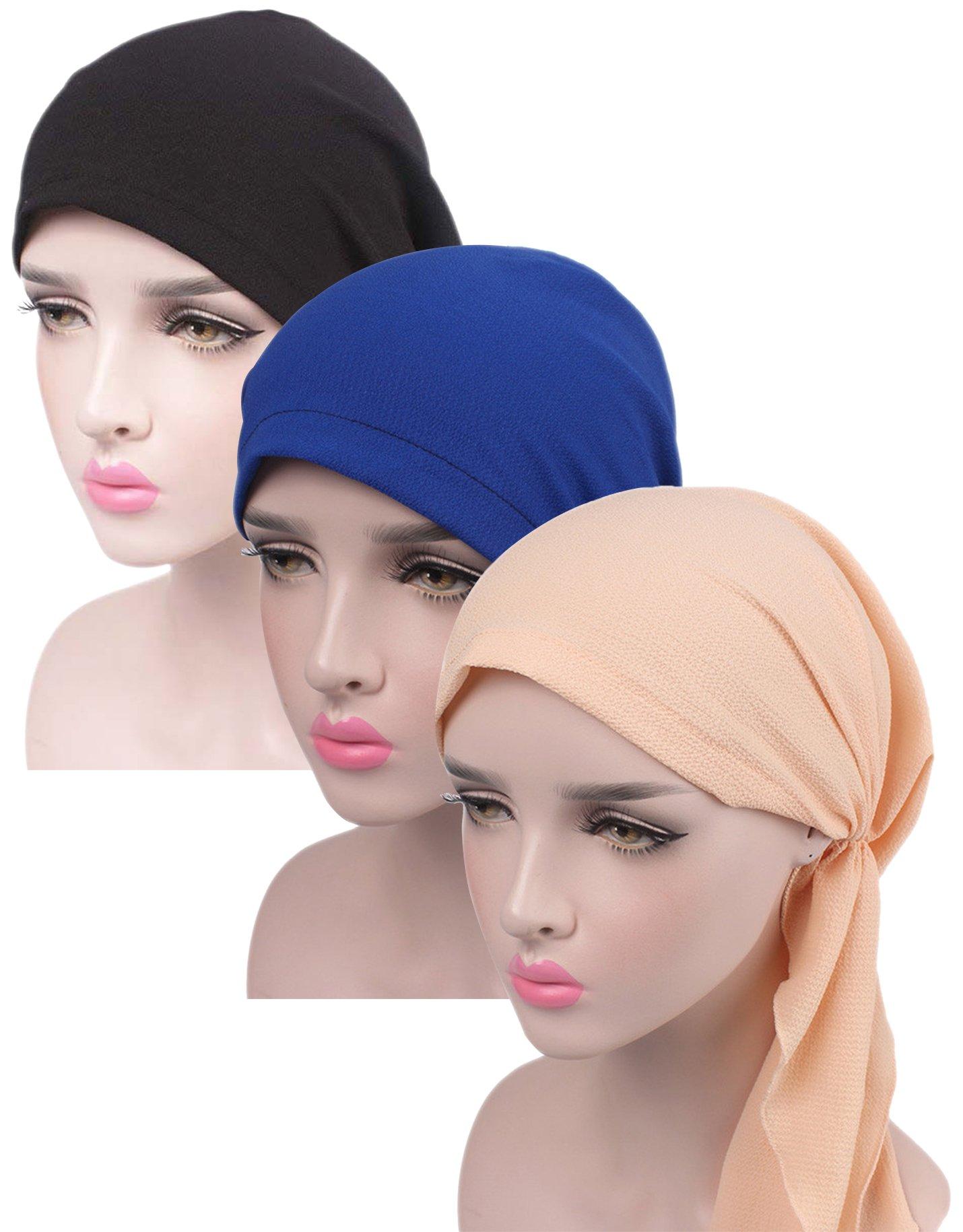 TFB.Love Chemo Hat Turban Head Scarves Pre-Tied Headwear (zuhe52) by TFB.Love (Image #1)