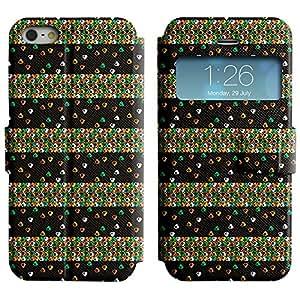 Pulsar Slim-Leather Series Funda para Apple iPhone 5 / 5S , Cute Triangle