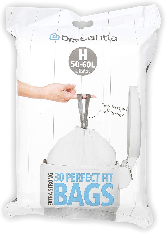 30 Stück 9x Brabantia Müllbeutel Spenderverpackung 50 l H