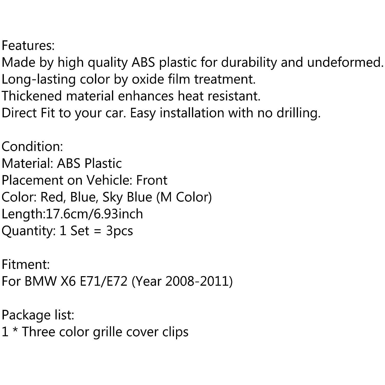 Areyourshop M Color Kidney Grille de protection pour BM-W X6 E71//E72 2008-2011