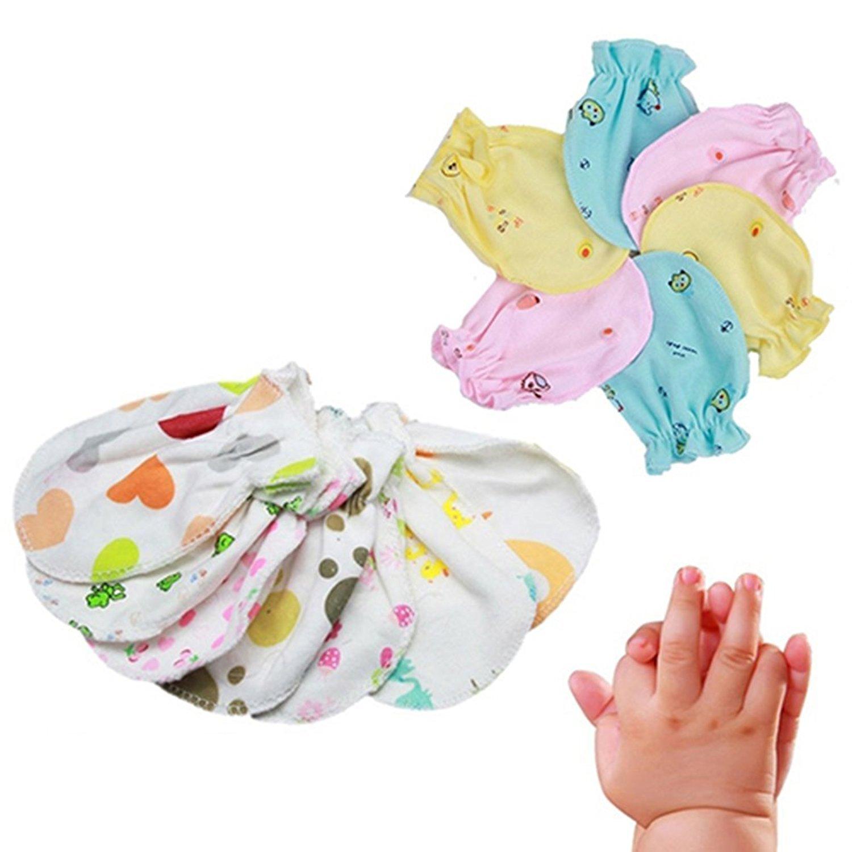 4 Pairs Unisex Newborn baby Soft Cotton Anti Scratch Mittens Gloves No Scratch Mittens Gifts Brussels08 4BX1M4101016GDPTOT