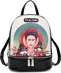 Frida Kahlo Licensed Backpack, Monkey Collection