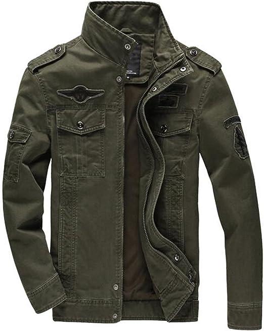 Men Jacket Jean Military Plus 6XL Army Soldier Cotton Air