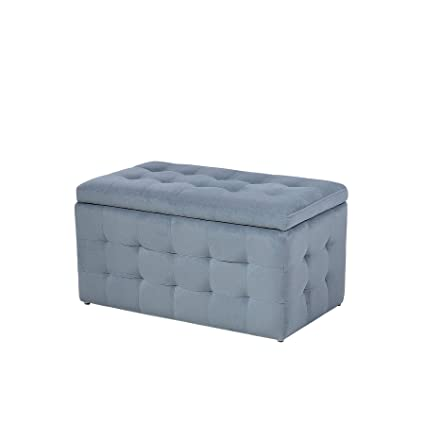 Excellent Modern Tufted Ottoman Bedroom Bench Storage Chest Grey Squirreltailoven Fun Painted Chair Ideas Images Squirreltailovenorg