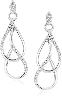 6092171ec2d Amazon.com  10kt White Gold Womens Round Diamond Cascading Teardrop ...