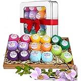 Bombes de Bain Effervescentes - Boules de Bain Effervescentes aux Huiles Essentielles Relaxantes Idéal pour les Spa et les bains détentes à la maison - Hydrate la peau et offre une relaxation totale