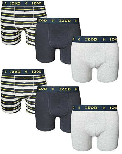 ca7c2324300a1 IZOD Men  s Cotton Stretch Boxer Briefs (6 Pack)