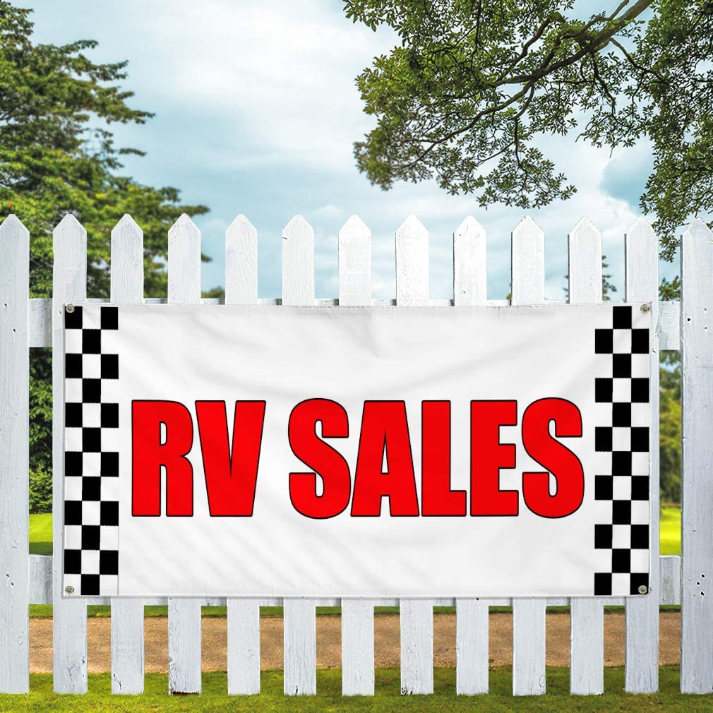 Vinyl Banner Multiple Sizes Rv Rentals Outdoor Advertising Printing A Business Banners Outdoor Weatherproof Industrial Yard Signs White 4 Grommets 16x40Inches