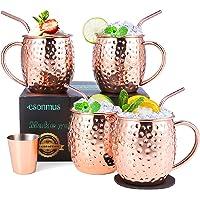 esonmus Moscow Mule Copper Mugs, Juego de 4
