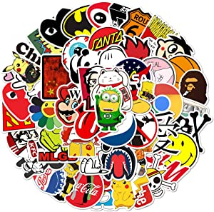 100 Pcs Fashion Brand Cool Stickers for Laptop Skateboard Guitar Decals