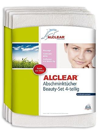 ALCLEAR Juego de 4 ABSC Discos desmaquillantes desmaquillantes de hautfreundlicher Ultra de microfibra en la Irritación y alergias - dermatológicamente ...