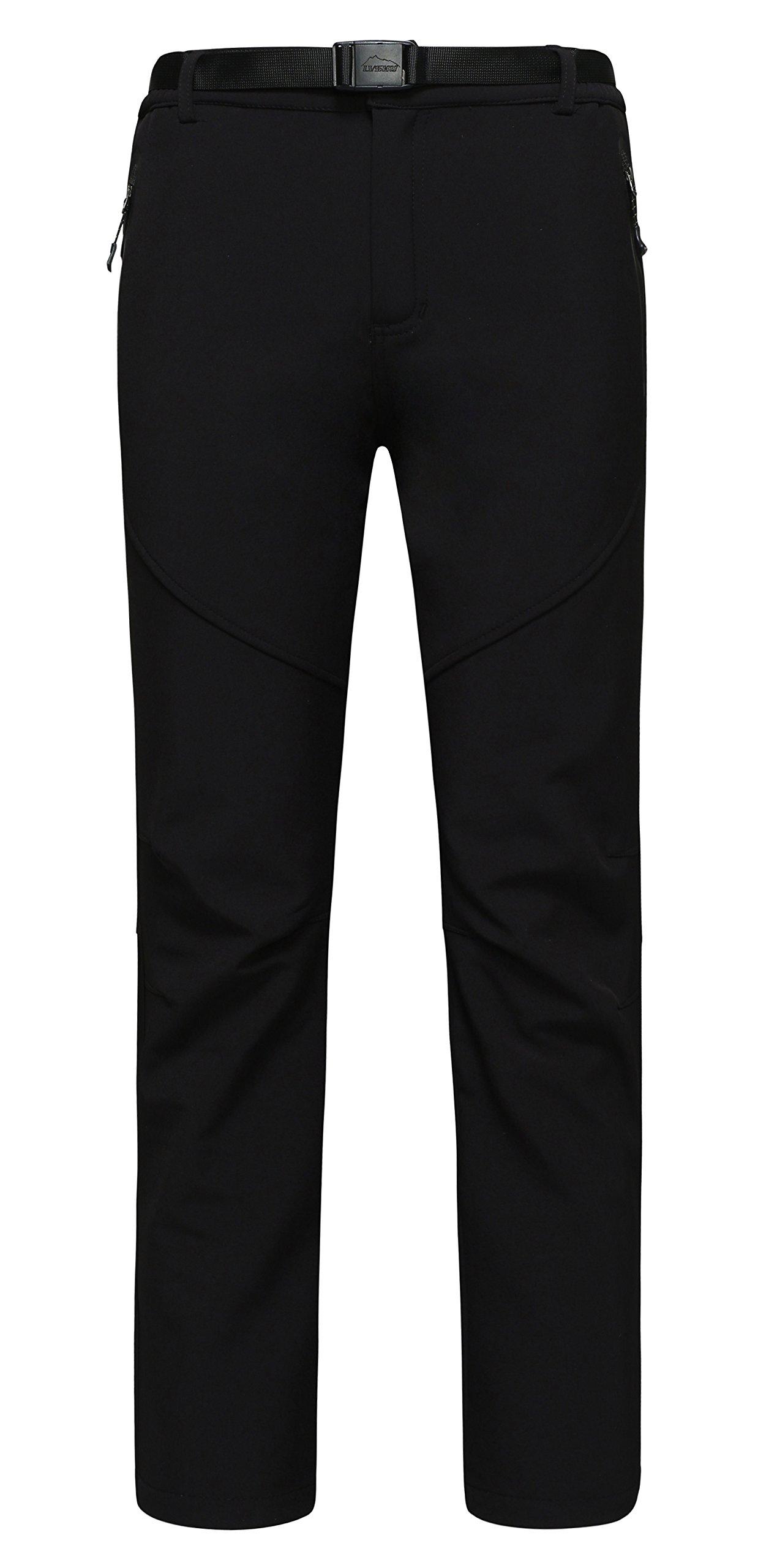 Diamond Candy Men\'s Outdoor Lightweight Waterproof Hiking Mountain Pants Black-XL