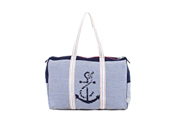 PE Florence Weekender NAUTIC marineweiß Strandtasche Badetasche