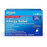 Amazon Basic Care Loratadine Orally Disintegrating Tablets, 10 mg, Antihistamine, 24-Hour Allergy Medicine, 30 Count
