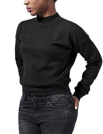 293aa7b052275a Urban Classics Damen Sweatshirt Ladies Short Interlock Crew: Amazon.de:  Bekleidung