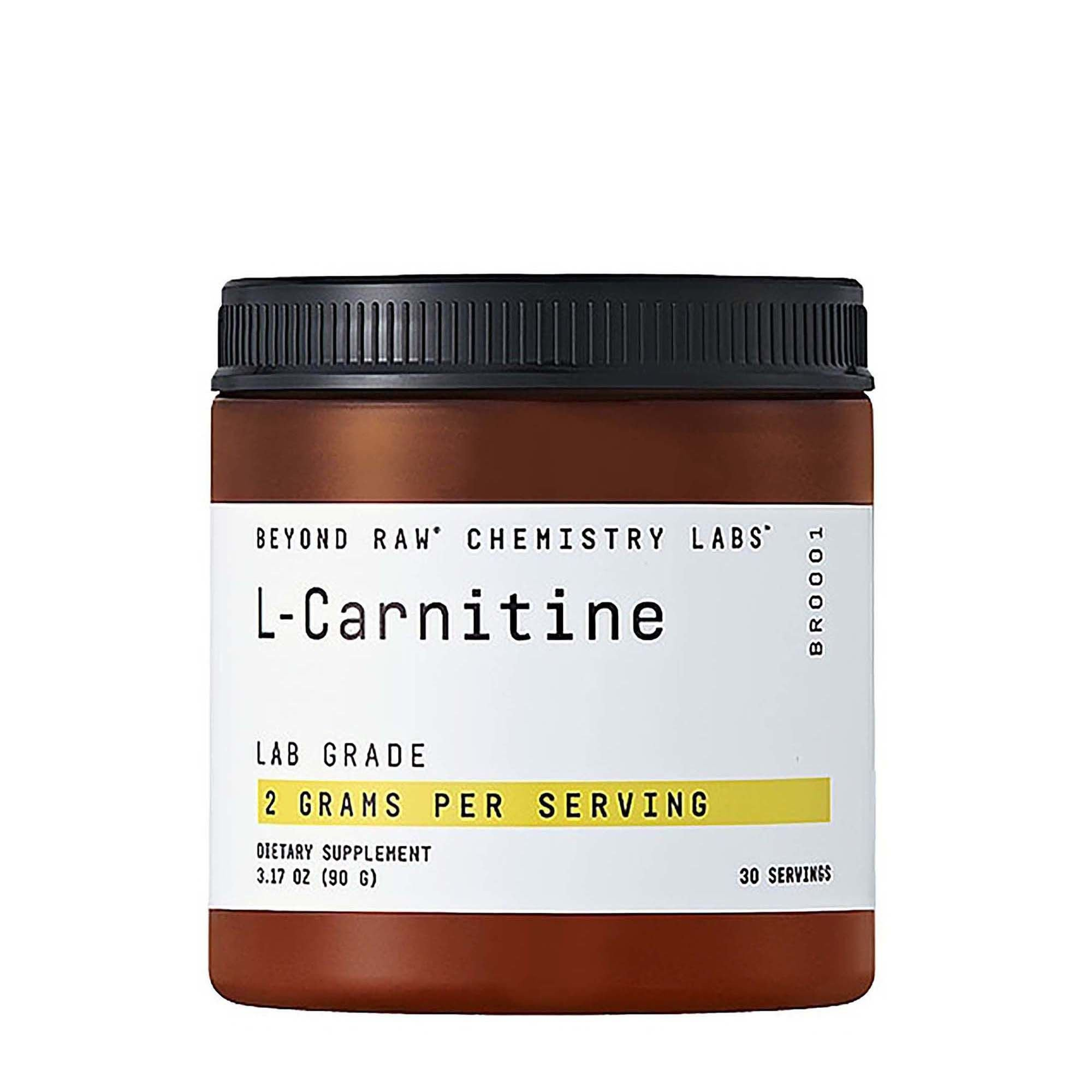Beyond Raw Chemistry Labs L-Carnitine, 30 Servings